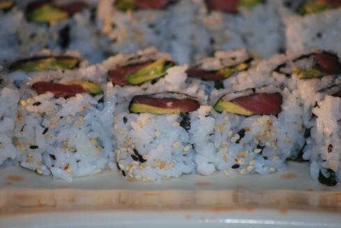 sushi display at metro detroit restaurants