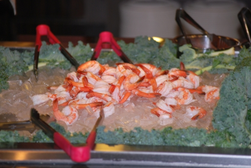 Shrimp display at Metro Detroit Restaurant Fuji Bistro