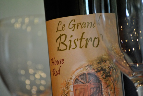 Red wine at Le Grand Bistro